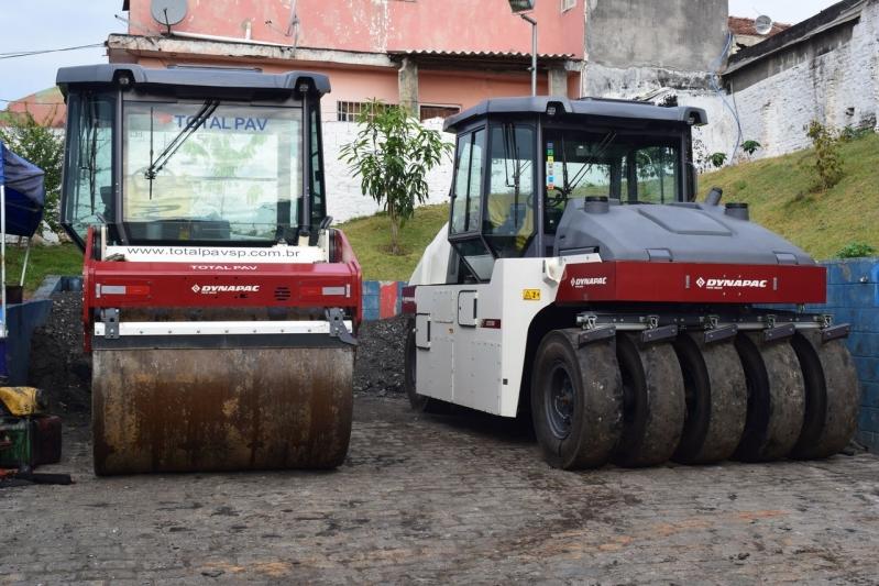 Locação de Rolo Compactador Pequeno Araçatuba - Locação de Rolo Compactador