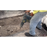 serviço de demolição com martelete Limeira
